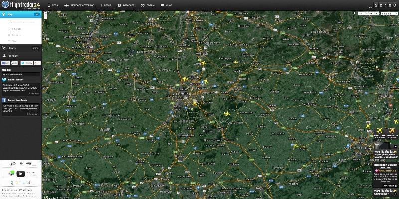bruxelles flight radar