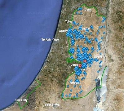 American For peace ofrece un sitio interactivo para conocer todo sobre las colonias israelíes en Palestina:http://www.peacenow.org/map.php