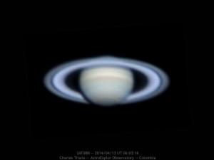 Saturno sacado por Charles Triana desde Colombia ayer.