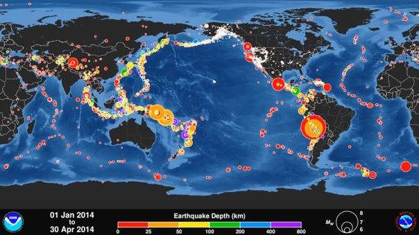 terremotos abril 2014