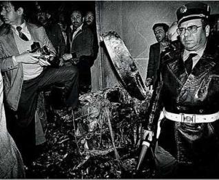 Restos del avión de Francisco Sá Carneiros