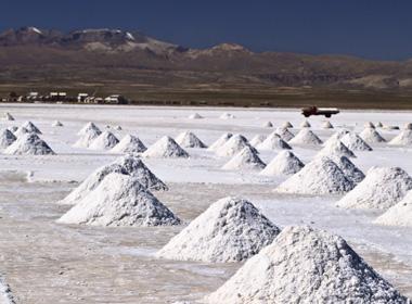 Mina de litio en Chile