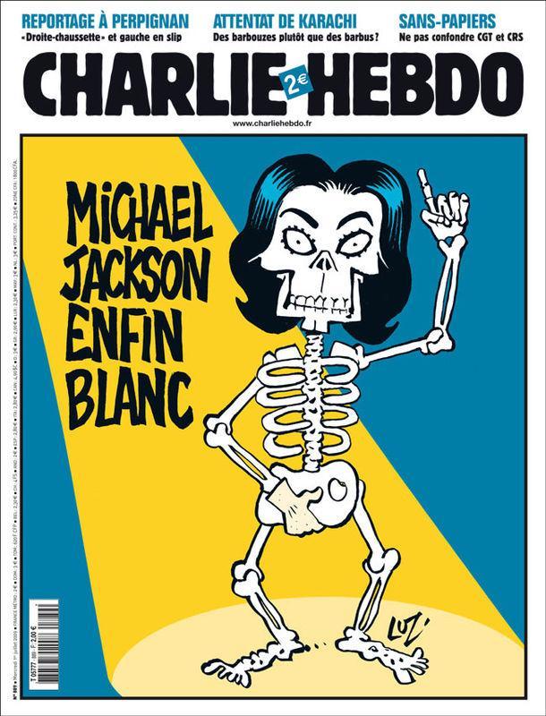 Luz de Charlie Hebdo: Michael Jackson por fin blanco