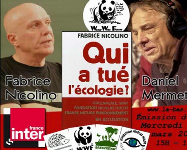 """Fabrice Nicolino en la presentación de su libro""""¿Quien mato a la ecologia?"""""""