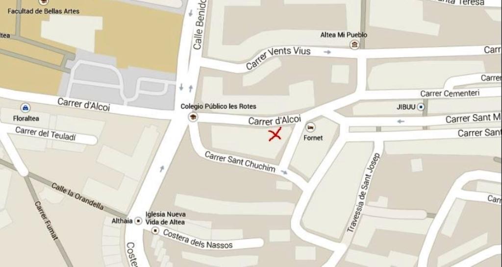 situación antena mapa altea